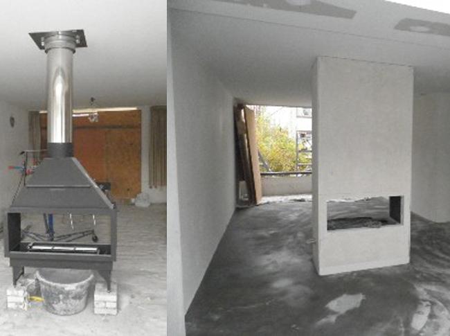 Aanvang gepleisterde cementdekvloer woonhuis Brabant