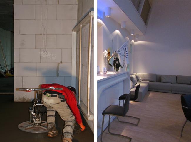 Realisatie cementdekvloer Son Sport en PVC