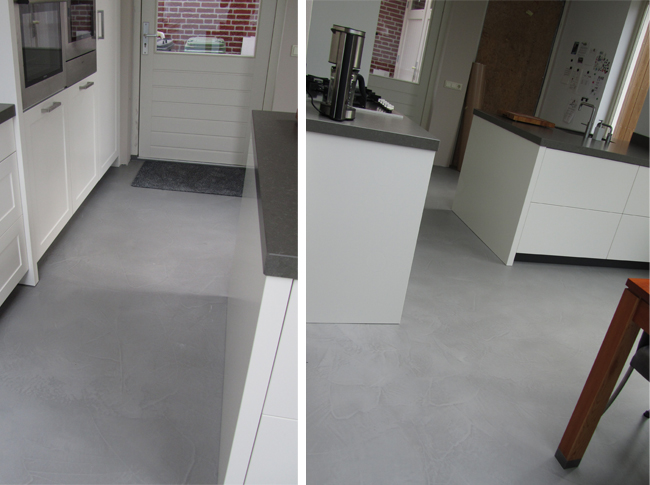 Venetiaans woonbeton = elke vloer is uniek door het gebruik van natuurlijk micro beton #woonbeton #berkersvloeren #gietvloeren #betonlook